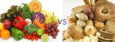 veggie vs unhealthy carbs